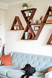 Wood Shelf Gallery Rail by Decoration Shelving Ideas For Living Room Walls Home And