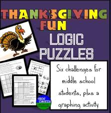 thanksgiving six logic puzzles and brain teasers for middle