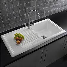 Reginox RLCW  Bowl White Ceramic Reversible Kitchen Sink - Kitchen sink