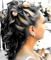 half up and down wedding hairstyles fancy and romantic half up