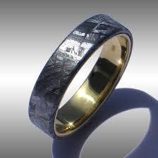 meteorite wedding band meteorite rings and meteorite wedding bands