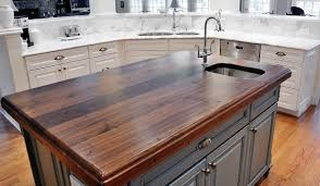 black butcher block kitchen island distressed black walnut heritage wood by artisan collection