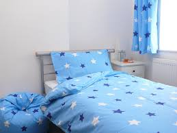 Cot Bed Duvet Cover Boys Blue Stars Cotbed Toddler Duvet Cover U0026 Pillowcase 120x150cm