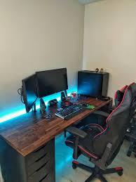 Desk Gaming Stylish Gaming Setup Desk Gaming Desk Evodesk Furniture Favourites