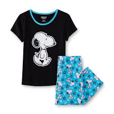 peanuts by schulz s plus pajama top snoopy