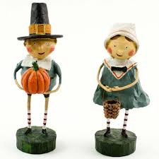 thanksgiving figures lori mitchell thanksgiving figurines tom goodie set of 2