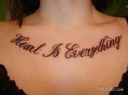 chest script tattoos for tattoos book 65 000 tattoos designs