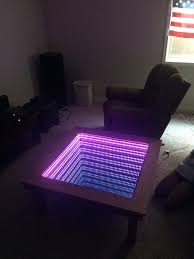 Coffee Tables With Led Lights High School Sophomore Creates Amazing Mirror Table