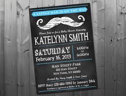 mustache baby shower invitations chalkboard mustache baby shower invitation by pink owl party