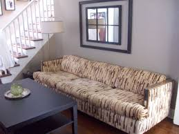 ugly couch transform an ugly sofa with a dropcloth slipcover living well on