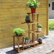 plant stand wooden flower pot stand outside wood standshomemade