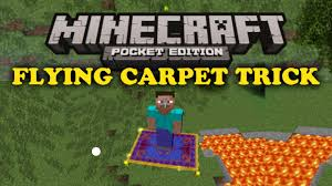 flying carpet trick minecraft pe youtube