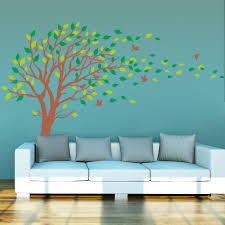 amazon com large brown and green tree blowing in the wind tree amazon com large brown and green tree blowing in the wind tree wall decals wall sticker vinyl art kids rooms teen girls boys wallpaper murals sticker wall