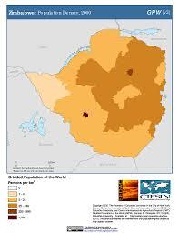 Zimbabwe Map Map Gallery Sedac
