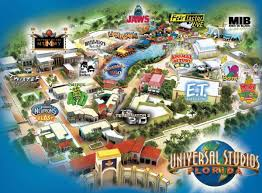 Orlando Outlets Map by Universal Studios Florida Map Universal Studios Orlando Park Map