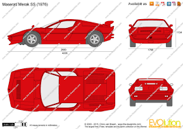 merak maserati the blueprints com vector drawing maserati merak ss