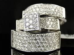 Wedding Ring Trio Sets by Awesome Trio Engagement Ring Sets Collection On Ebay