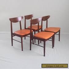 furniture 60s 4 danish modern mid century walnut side chairs stanley furniture