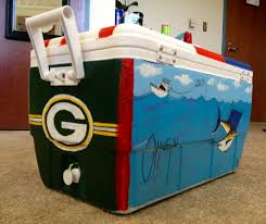 Green Bay Packers Flags Green Bay Packers And Guy Harvey Themed Hand Painted Cooler