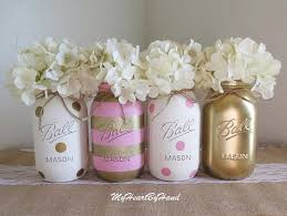 gold baby shower decorations pink and gold baby shower decorations baby shower jars