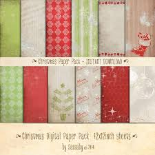 Cowboy Christmas Party Invitations - classic christmas digital paper pack christmas australia party