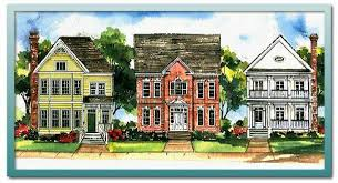 narrow lot house plans with rear garage authentic historical designs llc