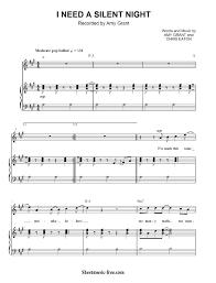 i need silent night sheet music amy grant sheet music free