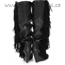 discount womens boots canada discount marant fringe suede wedge boots black leather sale