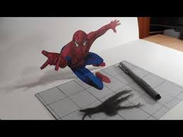 anamorphic illusion drawing a spiderman youtube graffiti