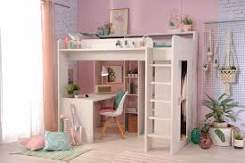 U Schreibtisch 90x200 Hochbett Inkl Integrierter Schreibtisch U Schrank Higher 1a