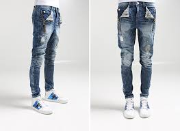 Skinny Jeans With Holes New Mens Ragged Skinny Jeans Men Roken Hole Ripped Pants Vintage