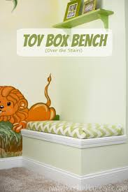 How To Build A Toy Box Bench by Diy Toy Box Bench How To Maximize The Staircase Wall