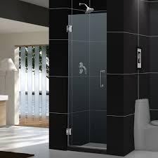 bathroom modern glass dreamline shower doors design with