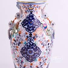 Dolphin Vase Vase Medium Imari Herend Experts