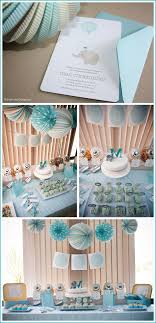 blue elephant baby shower decorations real party elephant baby shower