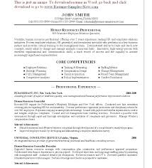 hr resume template resume for human resources resume hr generalist human resources