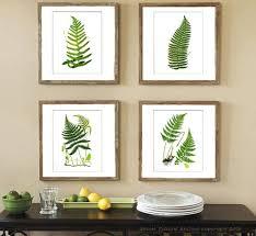 botanical fern prints green antique botanical art unframed wall