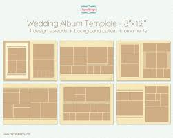 8x12 photo album wedding album template kit for photographers 8x12 by popuridesign