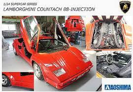 lamborghini countach kit car lamborghini countach 5000qv 88 sports car plastic model car kit 1