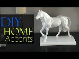 horse statue home decor diy high end inspired white horse statue home decor youtube