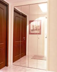 Closet Mirrored Doors Bifold Closet Doors Creative Mirror Shower