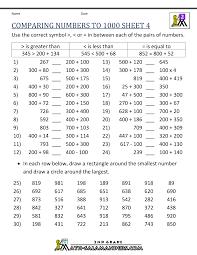 place value worksheets for 4th grade worksheets
