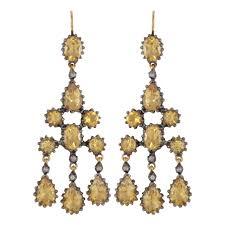 Citrine Chandelier Earrings Facetted Citrine Chandelier Earrings Earrings Jewellery
