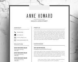 business card resume minimalist resume etsy