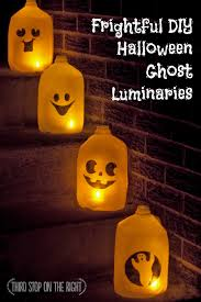 quick inexpensive diy halloween ghost luminaries third stop on