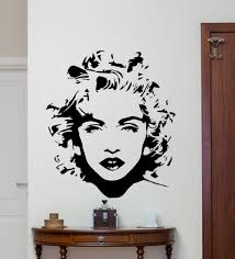 popular music vinyl stickers buy cheap music vinyl stickers lots removable wall decor madonna wall decal celebrity pop music vinyl sticker art decor home bedroom beauty