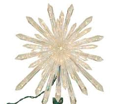 lighted tree topper 13 1 2 lighted starburst tree topper by sterling page 1