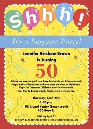 surprise 50th birthday invitations wblqual com