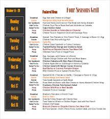 menu templates u2013 28 free excel pdf psd documents download