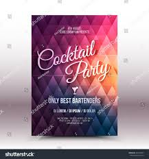 vector flyer design template cocktail party stock vector 440330407